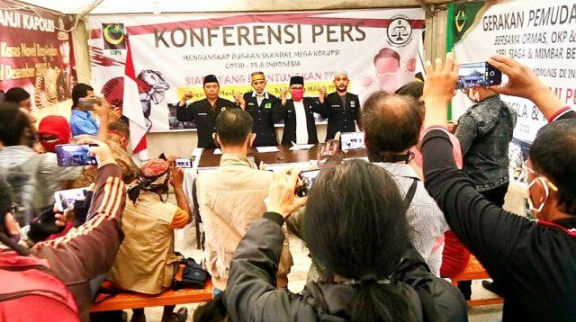 Gelar Konferensi Pers, LBH PP GPI Ungkap Dugaan Skandal Mega Korupsi Dana Penanggulangan Covid-19 Rp 405,1 Triliun