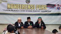 "Konferensi pers GPI ""Tunda Pilkada Demi Nyawa Rakyat Indonesia"" di Menteng Raya Jakarta Pusat, Jumat (18/9/2020)"